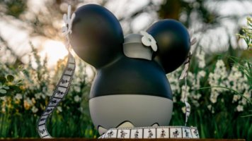 Minnie mouse steamboat willie popcorn bucket for annual passholders
