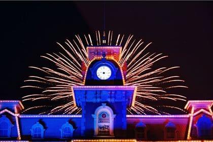 Main Street Train Station Fireworks