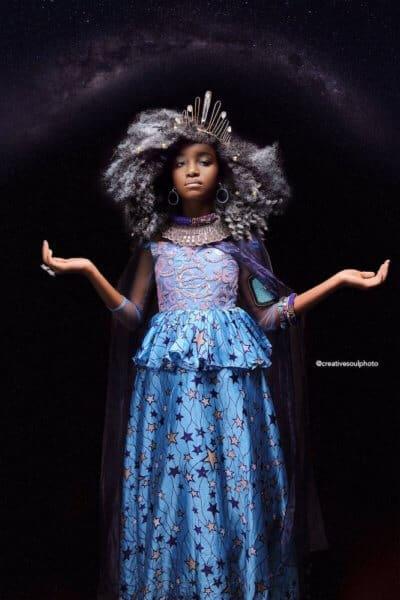 Elsa afroart black princess