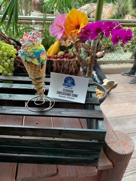 Rainbow Cheesecake Cone