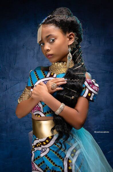 Princess Jasmine Black Portrait