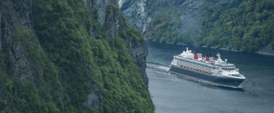 Waterway in Nordfjordeid, Norway