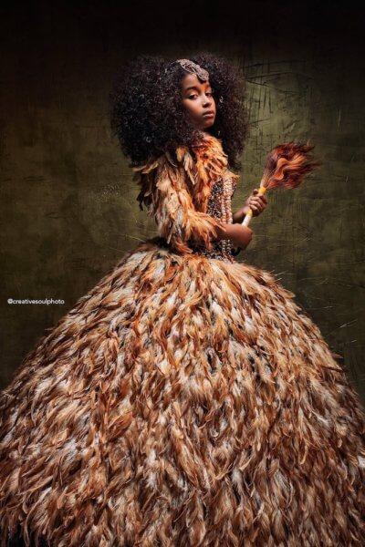 Queen Nala Black Princess Portrait