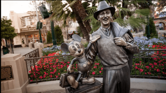 Walt and Mickey Statue in Disney's California Adventure