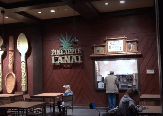 The Pineapple Lanai, Disney's Polynesian Village Resort