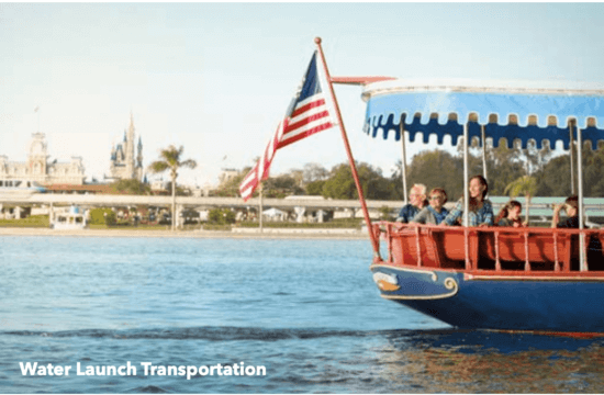 Disney Water Taxi while Traveling on Disney Property