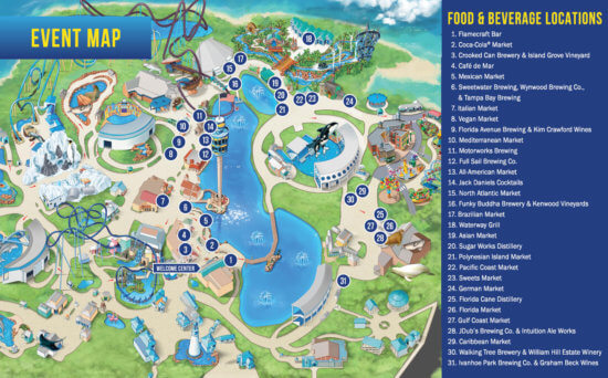 Market Map for the Seven Seas Food Festival