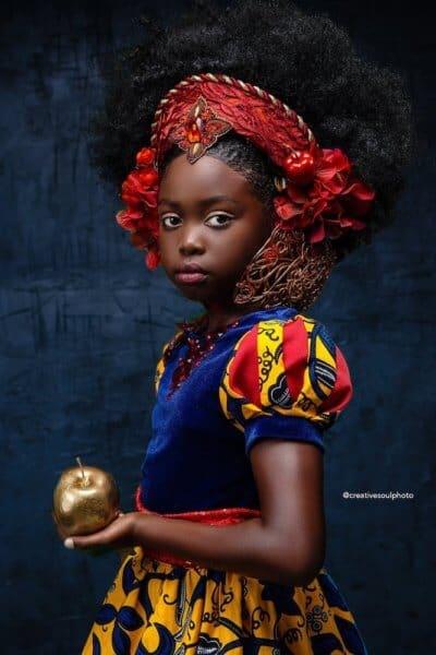 Snow White Afro ARt