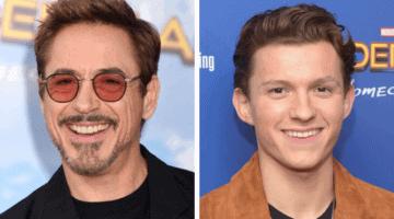 Robert Downey Jr. Tom Holland Friendship