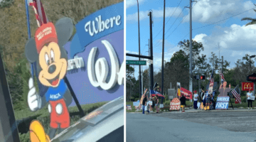 president trump disney world supporters