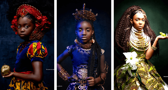 afroart black princess series