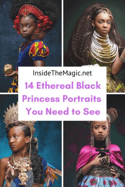 black princess portrats pin image