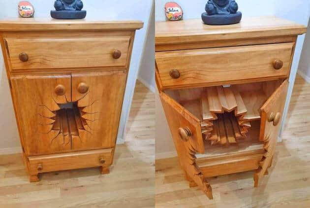 broken blasted dresser