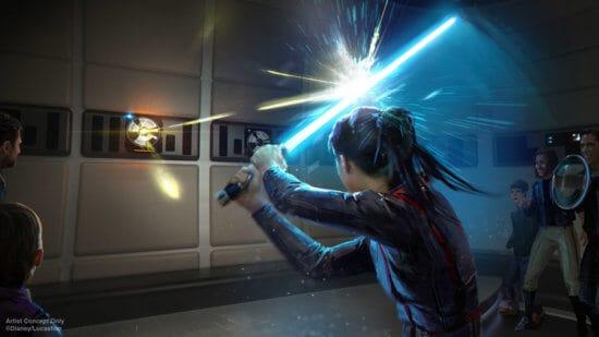 Lightsaber Training on Star Wars: Starcruiser