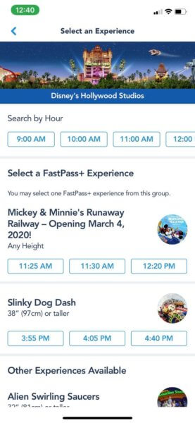 Mickey and Minnie FastPass times