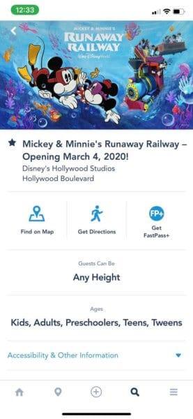 Mickey & Minnies Runaway Railway FastPass