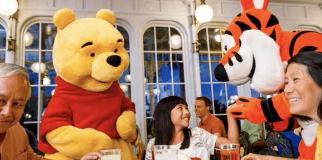 pooh and tigger at crystal palace with family