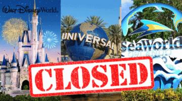 US Theme Parks Closed Coronavirus