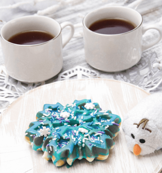 Anna and Elsa Inspired Waffle Donut