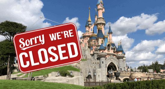 Disneyland Paris closed due to coronavirus