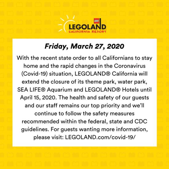 Legoland California Operations Update