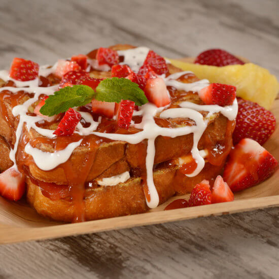 Cream Cheese and Guava-stuffed French Toast