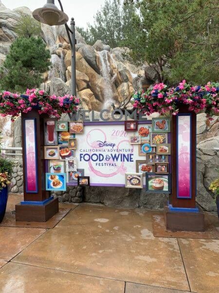 Food and Wine 2020 sign