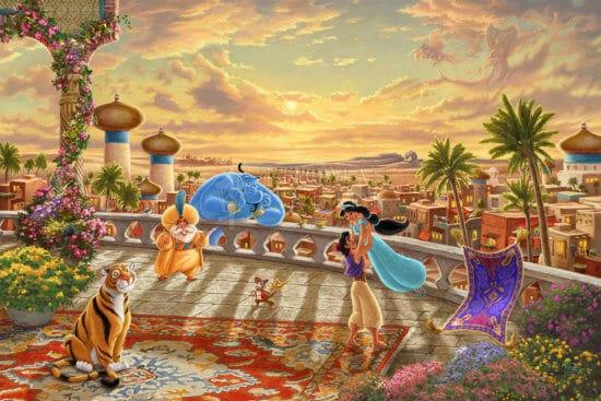 Jasmin dansant dans le désert au coucher du soleil