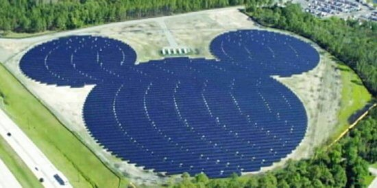 Hidden Mickey Solar Panel Farm Walt Disney World