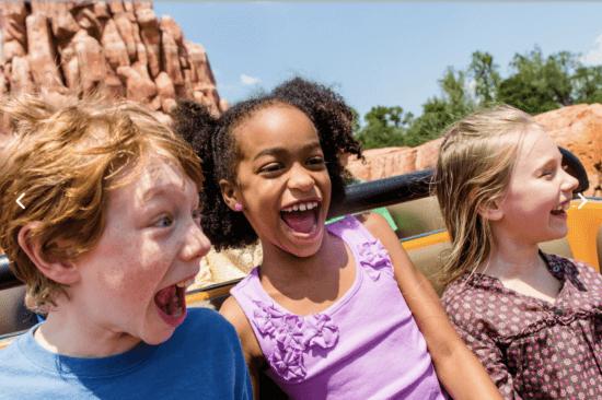 Kids riding Big Thunder Mountain