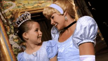 Cinderella's Royal Table meeting Cinderella