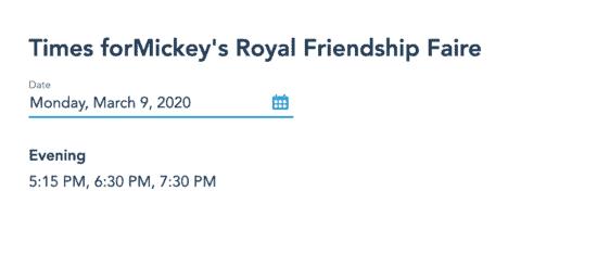 Mickey Royal Friendship Faire