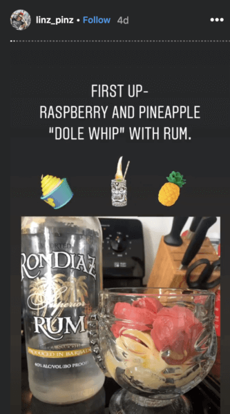 Dole Whip and Rum at home