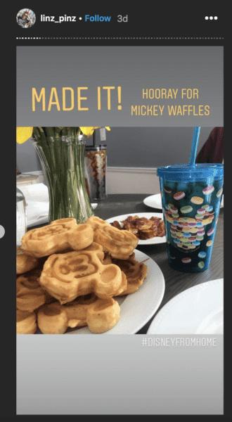 Mickey waffles at home