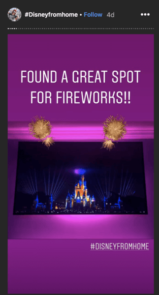 Fireworks wall projection