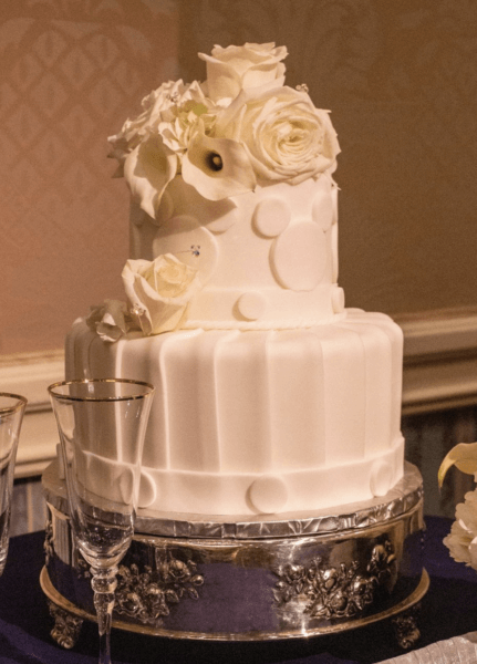 Monochrome white Mickey cake