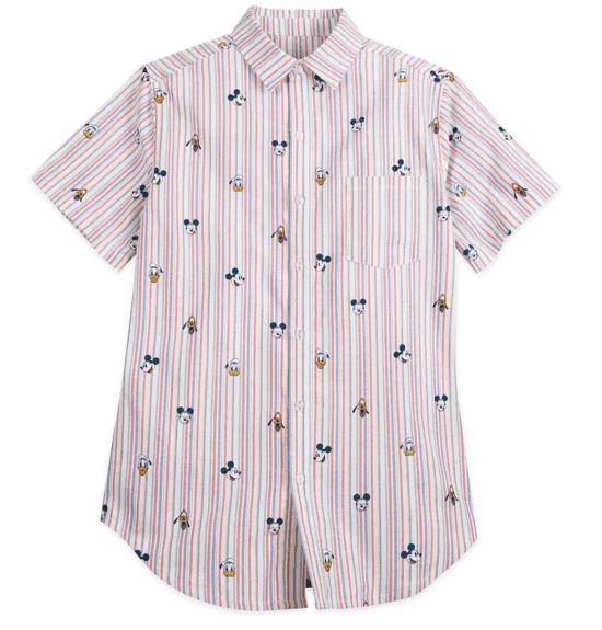 Men's woven Mickey shirt
