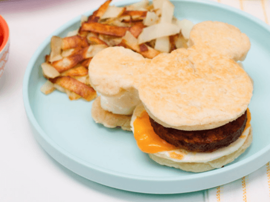 Mickey Mouse Breakfast Sandwich