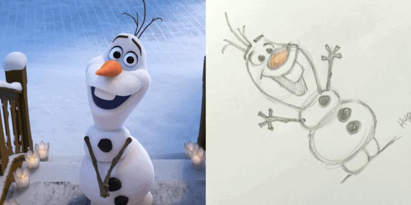 draw frozen olaf