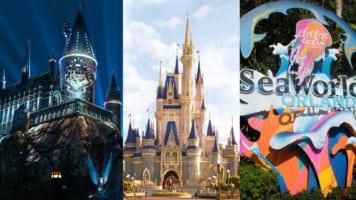 Universal Orlando, Disney World, SeaWorld