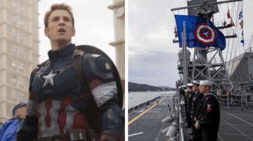Captain America US Navy Battle Flag
