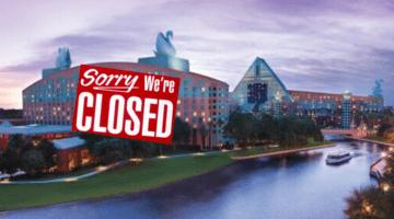 Walt Disney World Swan and Dolphin Resort Close
