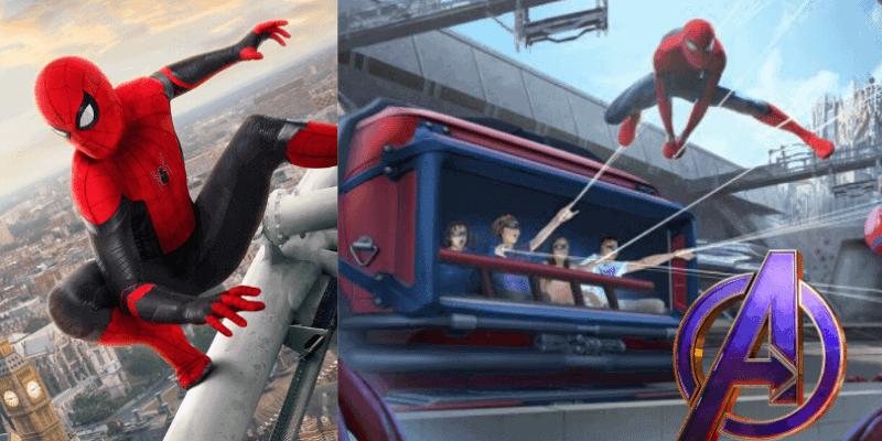 spider-man attraction details avengers campus