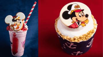 captain minnie cupcake milkshake