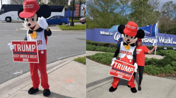 trump supporters at disney world