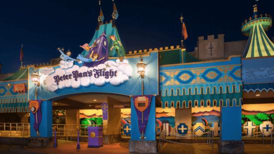 Peter Pan's Flight entrance sign magic kingdom