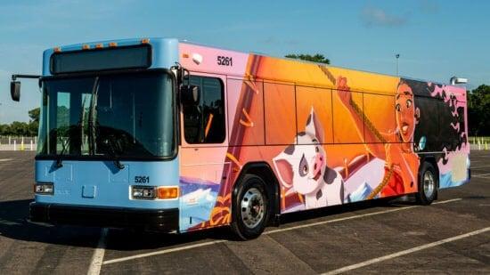 disney bus: Traveling on Disney Property