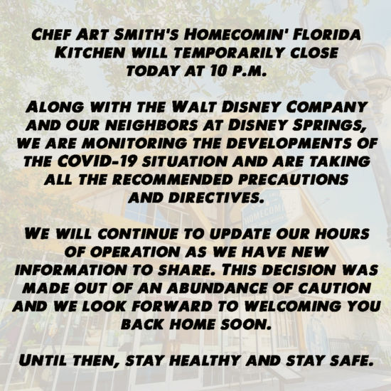 homecomin' lay off termination announcement
