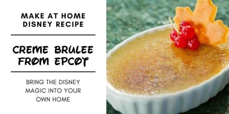 Crème Brûlée From EPCOT