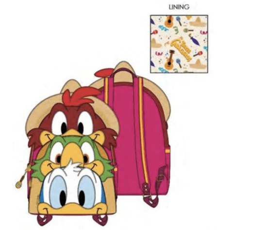 tres caballeros loungefly backpack mini